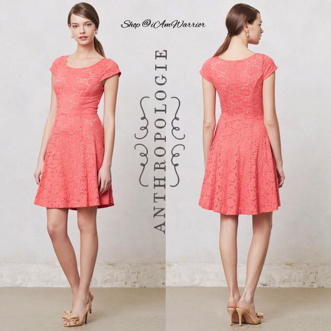 Anthropologie short dress Pink coral on Tradesy