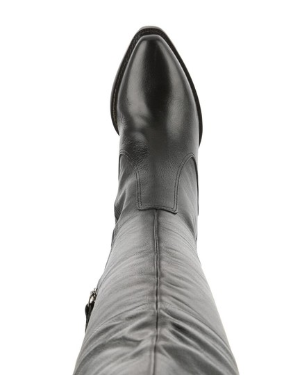 Matisse Black Leather Western Over The Knee Boots