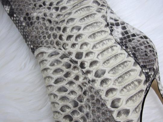 Kandee Thigh Python Snakeskin Exotic Gray Boots