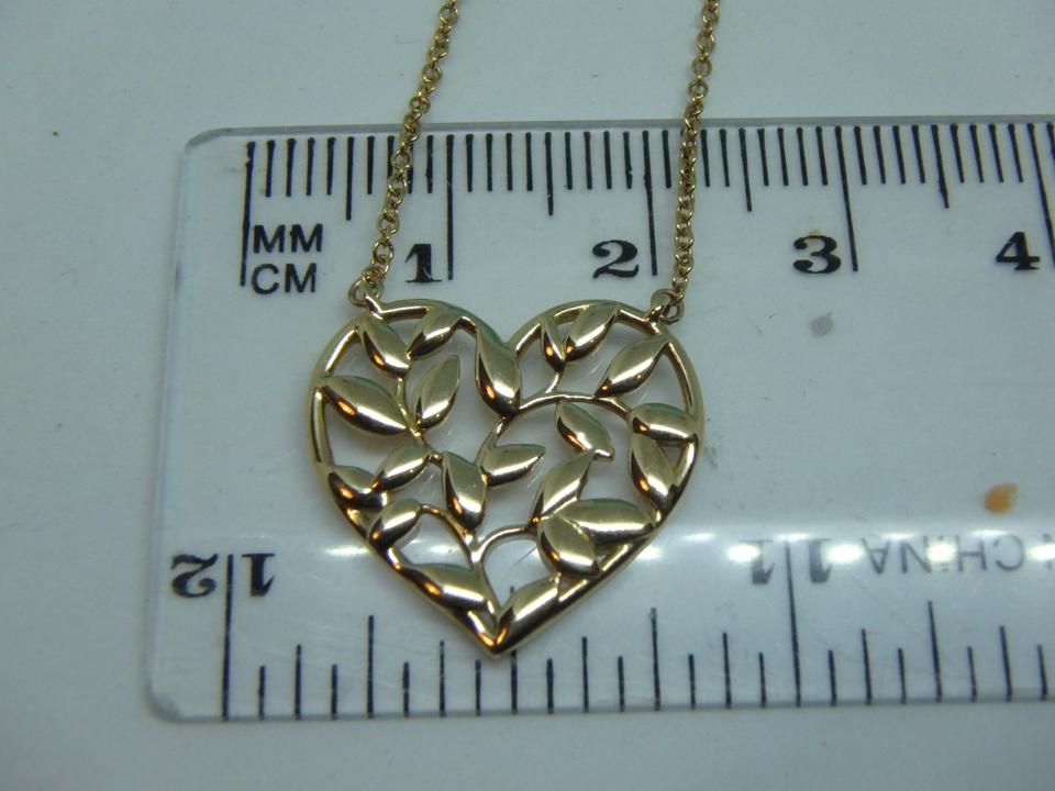 1ee03d38e Tiffany & Co. Paloma Picasso Olive Leaf Heart Pendant In 18k Rose Gold  Image 7. 12345678