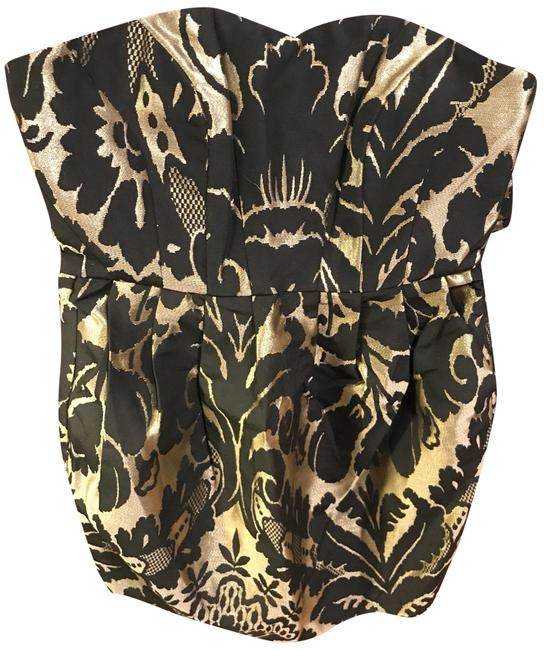 Preload https://img-static.tradesy.com/item/22705467/h-and-m-black-and-gold-06564420063099-short-night-out-dress-size-6-s-0-1-650-650.jpg