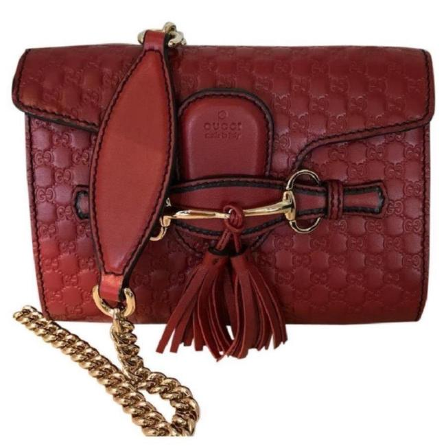 Gucci Emily Small Red Leather Shoulder Bag Image 1