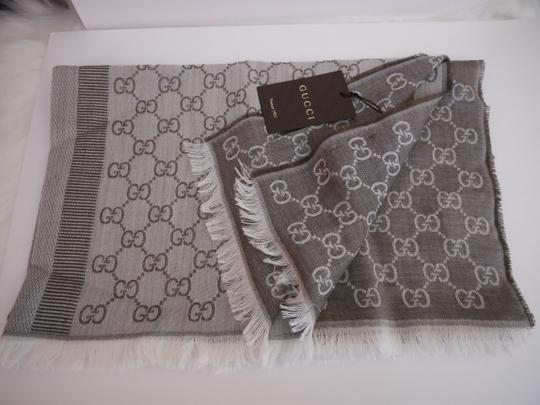 Gucci Gucci GG Logo Large Scarf Made in Italy New