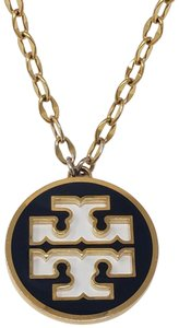 Tory Burch Gold-tone Tory Burch fixed logo pendant necklace