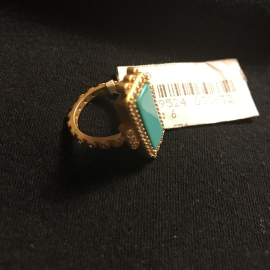 Nordstrom Matte Gold Plate Turquoise & Crystals