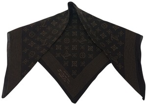 Louis Vuitton Dark brown Louis Vuitton LV monogram woven bandana