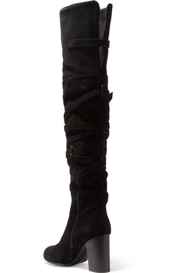 Sam Edelman Leather Suede Over The Knee Black Boots