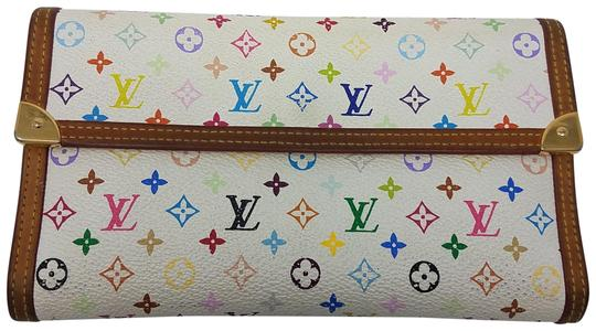 Preload https://img-static.tradesy.com/item/22705646/louis-vuitton-white-brown-blue-green-multicolor-coated-canvas-international-wallet-0-2-540-540.jpg