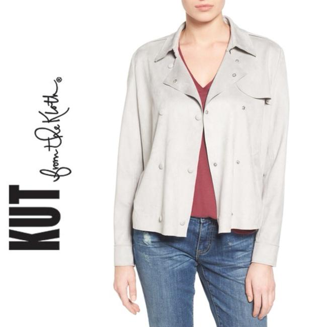 KUT from the Kloth Grey Leather Jacket