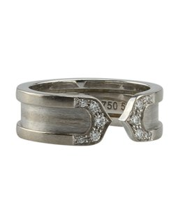Cartier Cartier Double C 18K Diamond 1 PT Ringx Size 5 (142016)