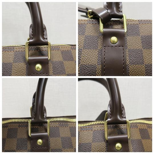 Louis Vuitton Lv Damier Ebene Keepall Bandouliere 45 Satchel in brown