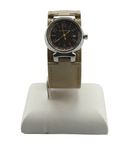 Louis Vuitton Louis Vuitton Tambour RC8854 Stainless Steel Quartz Watch (142014)