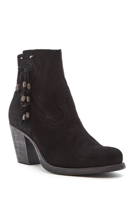 Black Velour Boots/Booties Size EU 37 (Approx. US 7) Regular (M, B) Black Velour Boots/Booties Size EU 37 (Approx. US 7) Regular (M, B) Image 1