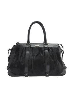 Cline Leatherxpony Hair Satchel in Black