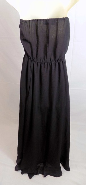 Black Maxi Dress by Dress the Population Strapless Maxi