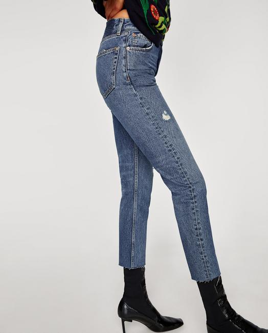 Zara Vintage High Rise High Waisted Retro New With Tags Boyfriend Cut Jeans