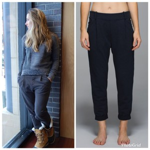Lululemon Relaxed Pants Heathered Inkwell/Inkwell (blue/black)