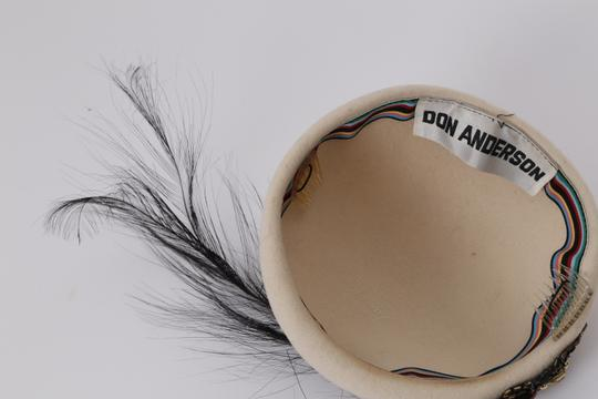 Don Anderson DON ANDERSON Sequin Jeweled Feather Hat