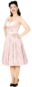 Bernie Dexter short dress Pink/White Parisian Print Beatrice 50's Pin Up Rockabilly on Tradesy