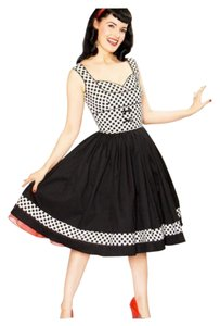 Bernie Dexter short dress black/white Lulu 50's Rockabilly Vintage on Tradesy