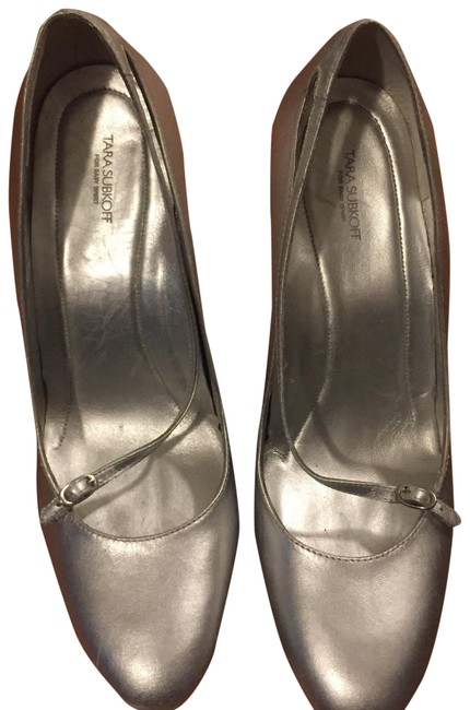 Silver Wedges Size US 8.5 Regular (M, B) Image 1