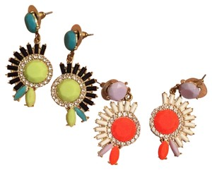 No Name Brand two pairs of fun colorful earrings