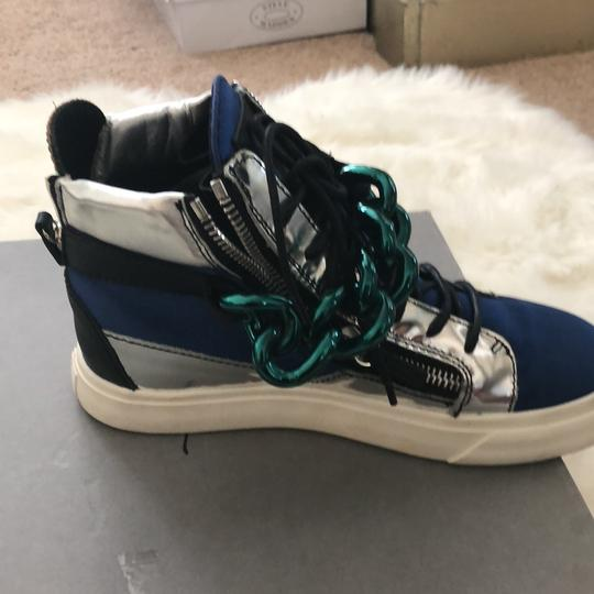 Giuseppe Zanotti blue silver black teal Athletic