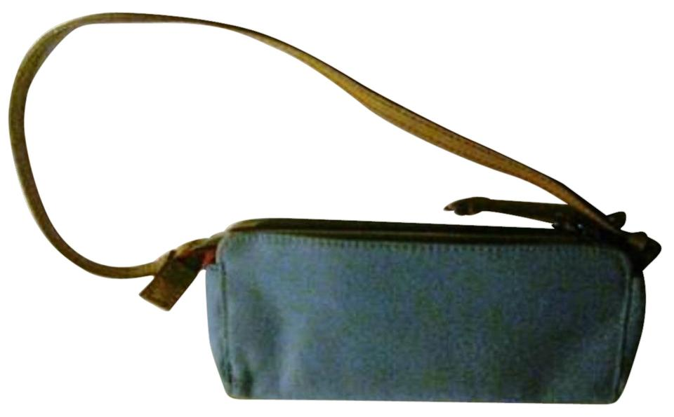 0b47cceb46 Tommy Hilfiger Tan Leather Petite Purse Baguette Turquoise Canvas ...