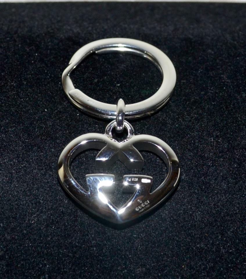 b85a13cbb7845 Gucci GUCCI Love BRITT Heart Key Ring Sterling Silver GG Charm GIft Box  Image 4. 12345