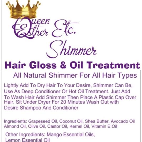 QueenEstherShop Shimmer!!! Hair Gloss , Face, Hair Treatment