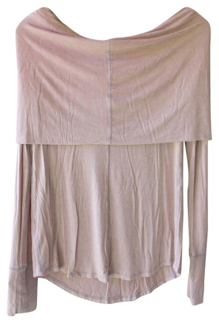 Free People Soft + Stretchy Cozy + Relaxed Unfinished Hem Lived In Look Round Hem T Shirt Lavender