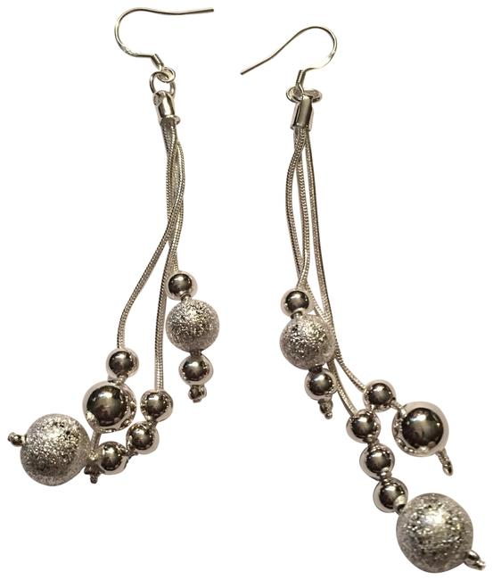 Item - Sterling Silver Ladies 925 Tiny Ball Dangling Earrings