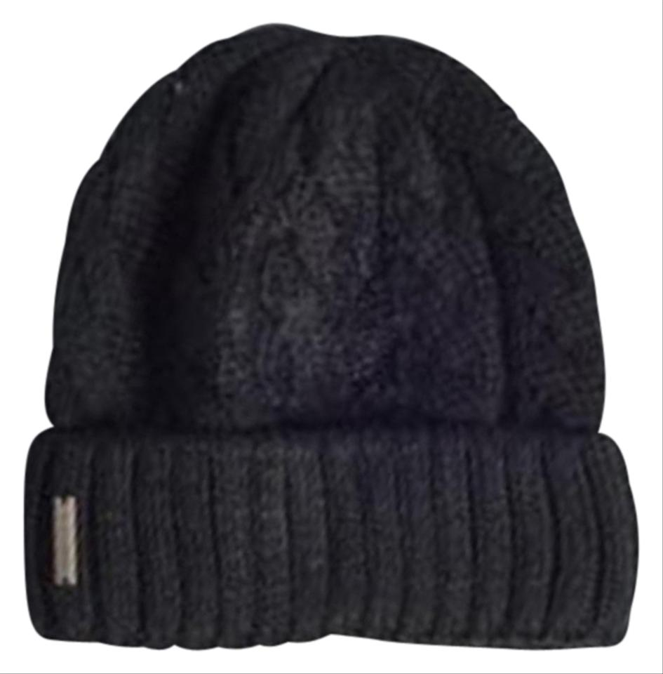 Soia Amp Kyo Black Cable Knit Beanie In Hat Tradesy