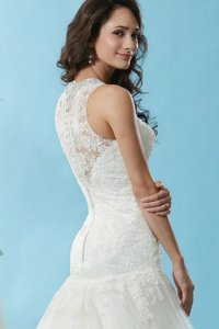 Eden Ivory Lace/Tulle Bl120 Modern Wedding Dress Size 10 (M)