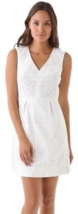 Diane von Furstenberg short dress White Eyelet on Tradesy