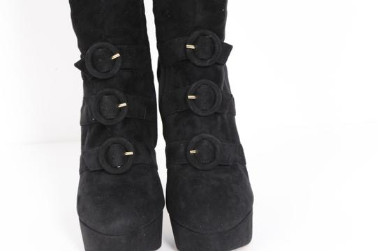 Charlotte Olympia Suede Black Boots