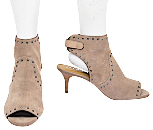 Coach Taupe Suede Open Toe/Heel with Studs Boots/Booties Size US 10 Regular (M, B) Image 1