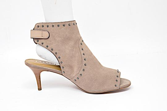 Coach Suede Open Taupe Boots