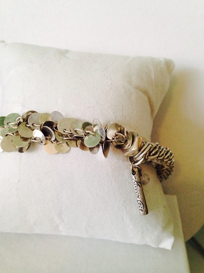 Kenneth Cole NWOT Silver-Tone Shaky Chain Stretch Bracelet