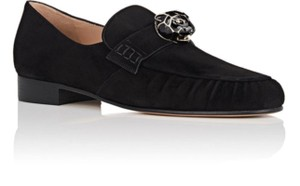 Valentino Panther Suede Suede Panther Black Flats