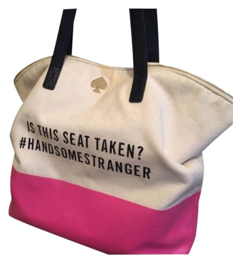 Preload https://img-static.tradesy.com/item/22706847/kate-spade-call-to-action-handsome-stranger-pink-canvas-tote-0-1-540-540.jpg
