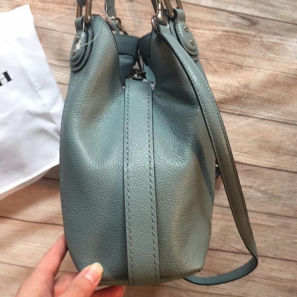 3a75ad8214b3 Coach Edie 28 In Polished Pebble 57124 Cloud Blue Leather Shoulder ...