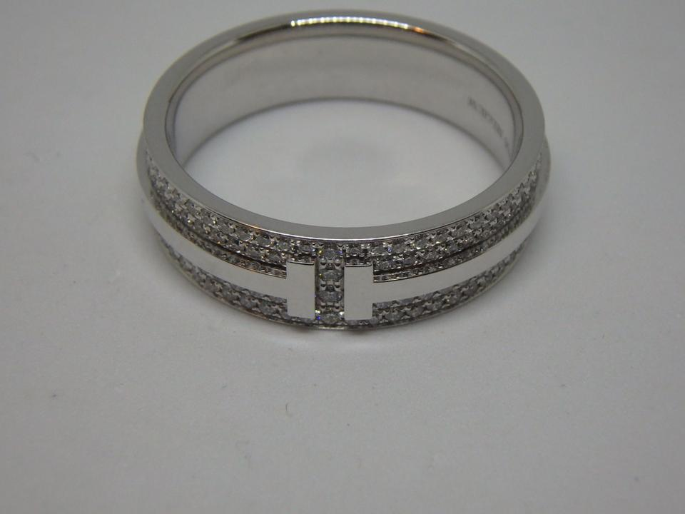 Tiffany co white gold two ring in with 057ctw diamonds womens tiffany co white gold two ring in with 057ctw diamonds womens wedding band junglespirit Gallery