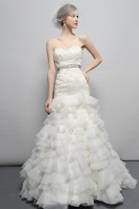 Eden White Satin/Organza Bl031 Modern Wedding Dress Size 20 (Plus 1x)