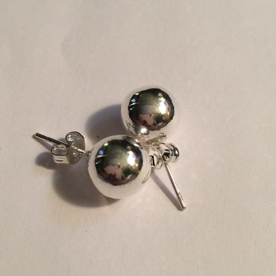 Queenesthershop Ladies Solid Sterling Silver Shiny Ball High Quality Earrings Image 2
