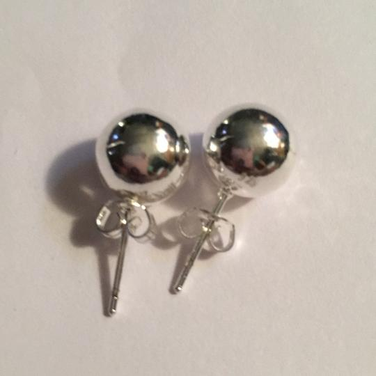Queenesthershop Ladies Solid Sterling Silver Shiny Ball High Quality Earrings Image 3