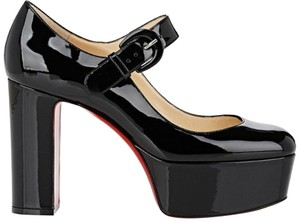 Christian Louboutin Mj Goes High Lace Up Mary Jane black Platforms
