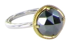 Tacori Midnight Sun Bold Simply Gem Solitaire Ring Sz 7 Hematite 18k 925