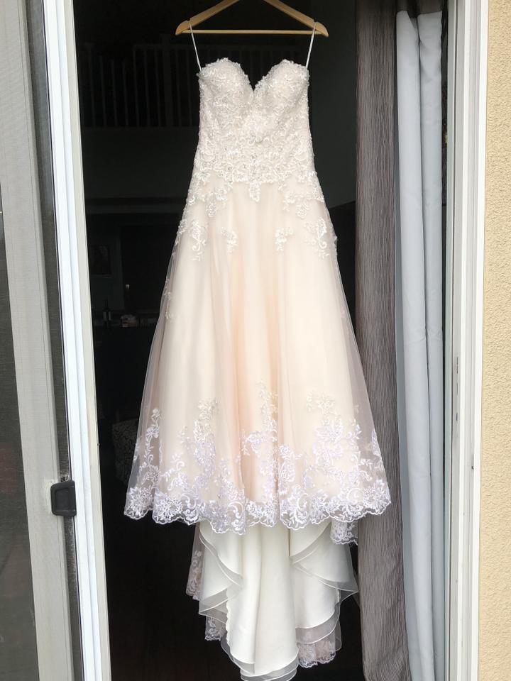 David 39 s bridal vintage rose jewel v3836 wedding dress size for Antique rose wedding dress