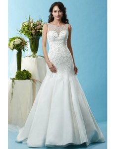 Eden Ivory Bl117 Modern Wedding Dress Size 14 (L)